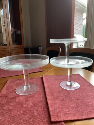 3 Matching Footed Serving Plates for Sale in Columbia, MO