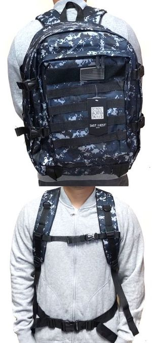 Brand NEW! Blue Digital Large Tactical Molle Backpack For Traveling/Everyday Use/Hiking/Camping/Biking/Fishing/Outdoors/Work/Gifts $20 for Sale in Carson, CA