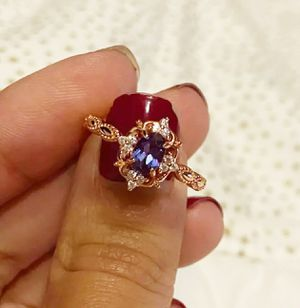 (Shipped Only) Lab Grown Alexandrite 925 Sterling Silver Milgrain Ring for Sale in Wichita, KS