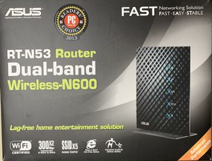 ASUS RT-N53 Router Dual-band Wireless-N600 for Sale in Glendale Heights, IL