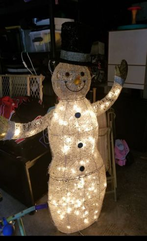 Partially lit snowman for Sale in Moon, PA