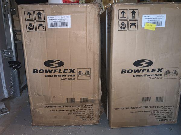 Bowflex Selecttech 552 Adjustable Dumbbells $530/ea.