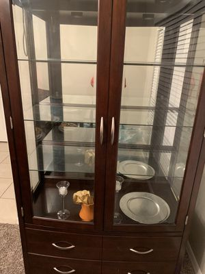 Cherry dining table and hutch for Sale in North Port, FL