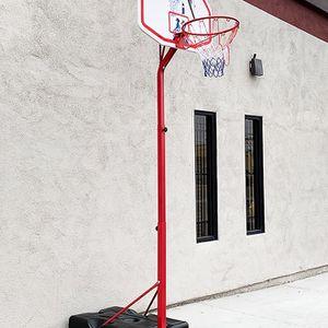 "(NEW) $75 Basketball Hoop w/ Stand Wheels, Backboard 32""x23"", Adjustable Rim Height 6' to 8' for Sale in El Monte, CA"