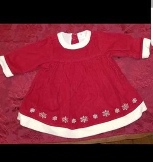 New Girls Size 6-12 Month Red Snowflake Christmas Dress for Sale in Westport, CT