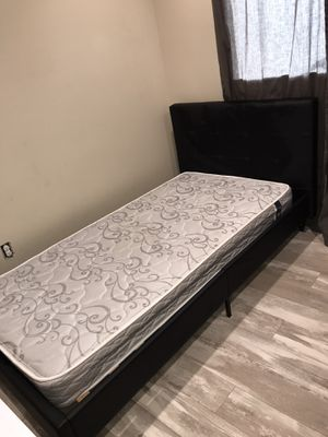 Twin bed frame with Mattress for Sale in East Wenatchee, WA