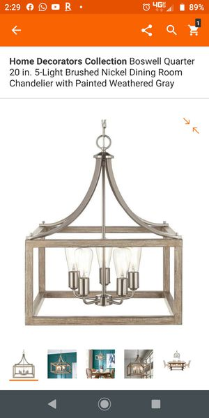5 lights chandelier,, Brushed nickel for Sale in Grand Prairie, TX