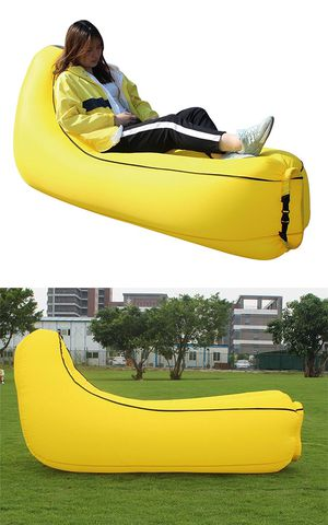 New $20 Inflatable Lounger Portable Air Sofa Couch Hammock Beach Waterproof Camping w/ Carry Bag for Sale in El Monte, CA