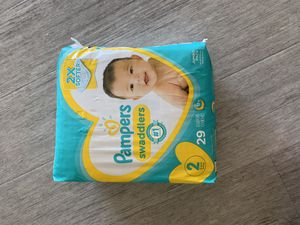 Brand New Pampers Size 2, Wipes and Johnson's hands and face wipes for Sale in McKinney, TX