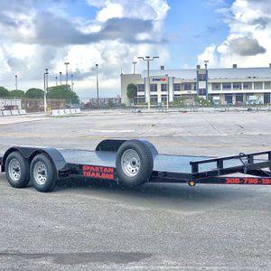 Car hauler car trailer trailer traile escombro equipment trailer utility trailer steel floor Atv trailer for Sale in Hialeah, FL