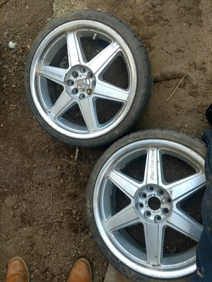 215/35zr18 84w 2-low profile tires & rims fit Honda/Acura decent tread tires/rims no problems or punctures/patches for Sale in Seattle, WA