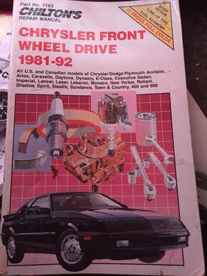 CHILTONS Chrysler Front Wheel Drive 81-92 for Sale in Detroit, MI
