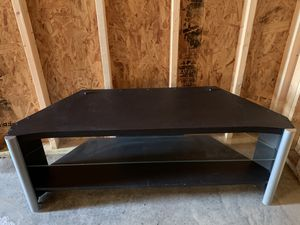 Tv stand with glass shelf for Sale in Sioux Falls, SD