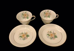 Vintage Noritake Goldenrose 2 Cups w/ Saucers for Sale in Ransom Canyon, TX
