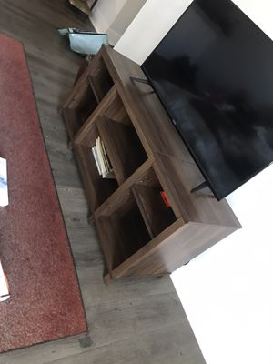 Small brown TV stand with removable shelves for Sale in Phoenix, AZ