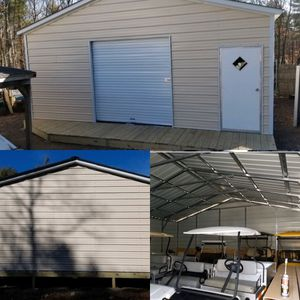 New 24' x 26' x 9' Steel Garage with 8' Rollup Door for Sale in Douglas, MA