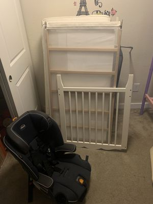 Car seat/booster seat for toddlers and up and crib for sale for Sale in Kirkland, WA