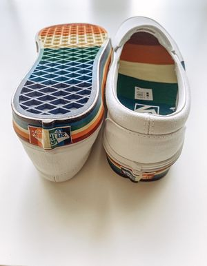 BRAND NEW Rainbow Slip on Vans! Size 6.5 Women's for Sale in Sanford, FL