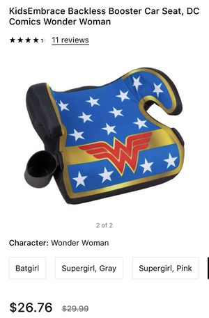 New, in box. Wonder Woman booster seat. for Sale in Morrisville, PA
