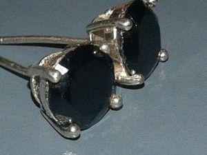 Black diamond earrings for Sale in Denver, CO