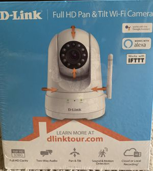 D-Link Full HD Pan & Tilt Smart Wi-Fi Indoor Security Camera for Sale in Austin, TX