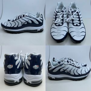 Nike Air Max 97 Plus Navy Silver Shark Metallic AH8144-100 Men's Shoes Sz 10.5 for Sale in Euless, TX