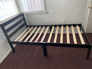 Twin Bed Wood Frame Sturdy For Sale Like New Only Used From A Month Moving Asking $30 for Sale in Rancho Dominguez, CA