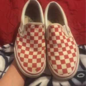 Red Checker Vans for Sale in Fort Worth, TX