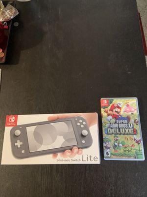 New Nintendo Switch Lite with Super Mario Bros. U Deluxe! for Sale in Miami Beach, FL