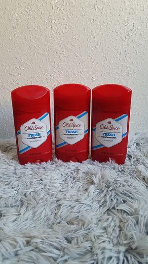 3 Old Spice Mens deodorant $5 for Sale in San Bernardino, CA