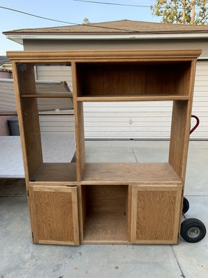 Oak wood TV stand for Sale in Long Beach, CA