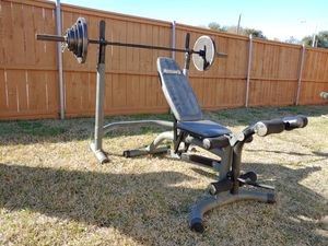 Squat rack with dumbbells for Sale in Richardson, TX