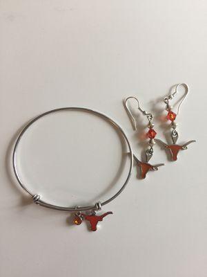 Longhorn Earring and Bracelet Set for Sale in Austin, TX