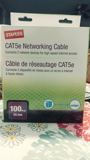 Staples CAT5 Networking Cable for Sale in Bedford, TX