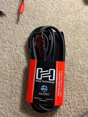 """HOSA CSS-202 Balanced Stereo Interconnect Audio Cable Dual 1/4"""" TRS - 2 m for Sale in Winchester, CA"""