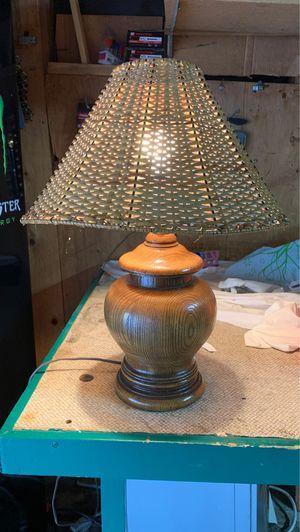 Antique wooden lamp / lampara antigua de madera for Sale in Carson, CA