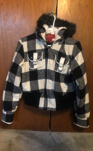 Women's M Paris Blues Checkered Hoodie Jacket for Sale in Auburn, CA