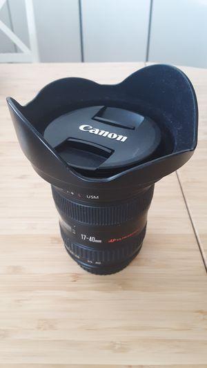 Canon lens 17-40mm f/4L usm for Sale in Miami Beach, FL