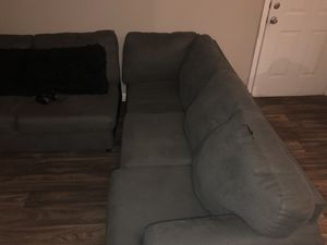 Dark grey sectional couch for Sale in Durham, NC