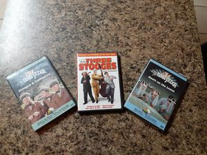 3 DVDS of the Three Stooges for Sale in Fort Worth, TX