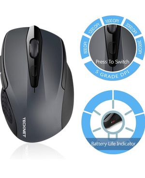 TeckNet 2600DPI Bluetooth Wireless Mouse, 24 Months Battery Life Battery Indicator, 2600/2000/1600/1200/800DP for Sale in South Burlington, VT
