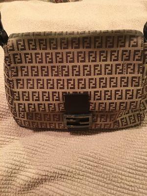 Preowned AUTHENTIC Fendi Zucca canvas signature hobo shoulder bag for Sale in La Jolla, CA
