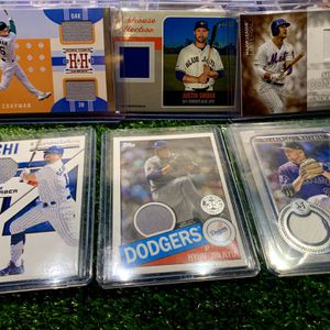 Baseball Cards Relic Memorabilia Jersey Patches Mets Cubs Dodgers Blue Jays Rockies for Sale in Emmaus, PA