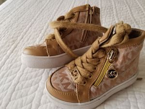 Michael kors baby shoes size 4-5 for Sale in Salt Lake City, UT