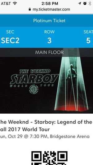 The Weeknd- Starboy: Legend of the Fall 2017 World Tour Tickets (2 tickets) for Sale in Nashville, TN