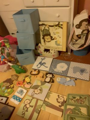 Beautiful. Set. For. Baby. Romm. Lot. Items. Decoration. Blankets for crib. And. Baskets. Rugs. Carousel. Courts in. And. More. Rugs for Sale in Las Vegas, NV