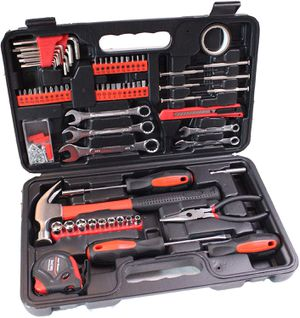 148-Piece Tool Set - General Household Hand Tool Kit with Plastic Toolbox Storage Case for Sale in Henderson, NV