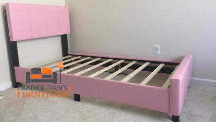 Brand New Twin Size Pink Leather Platform Bed Frame for Sale in Silver Spring,  MD