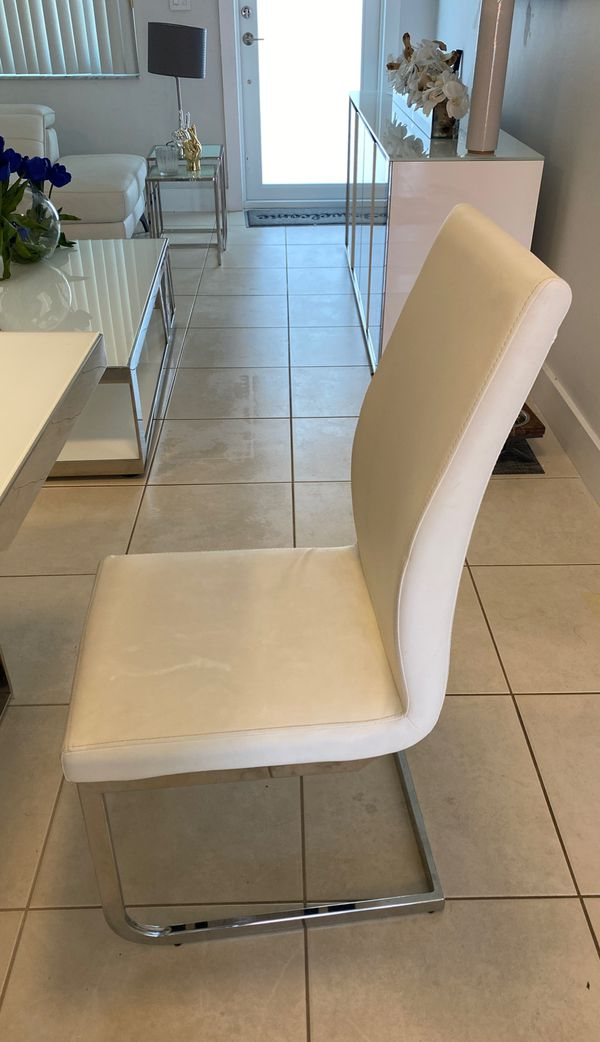 Six Dining Room Chairs Color White For Sale In Coral