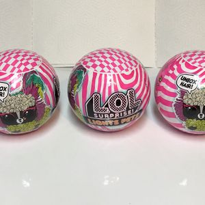 L.O.L. Surprise! Lights Pets with REAL Hair & 9 Surprises including Black Light Surprises - 3 Pack for Sale in Abington, MA